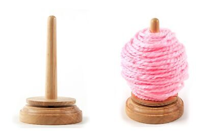 Trimits Classic Knit Wooden Spinning Yarn and Thread Holder Wool Winder Storage