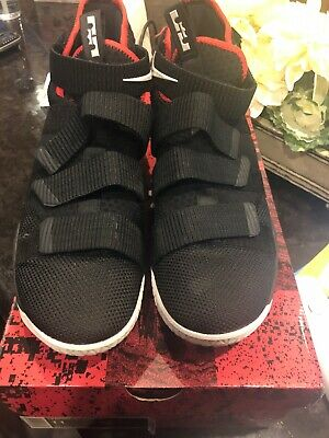 detailed look 18d7b cb178 Nike LeBron Soldier XI 11 Bred Black University Red (897644-002)SZ