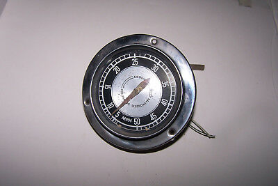 Vintage Airguide Contralog Boat Speedometer 0-50 Mph