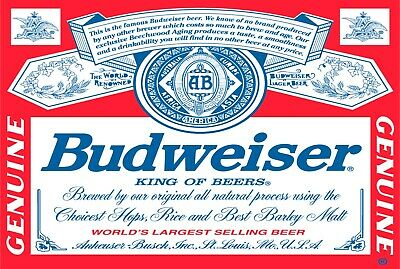 Budweiser beer  beverage bar brand new.  tin metal sign MAN CAVE