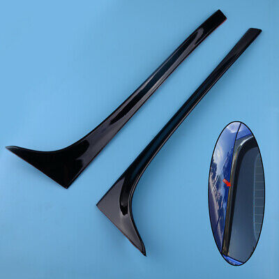 Piano Black Car Rear Spoiler Side Wing Lip For VW Golf MK7 MK7.5 R GTD GTE 13-18