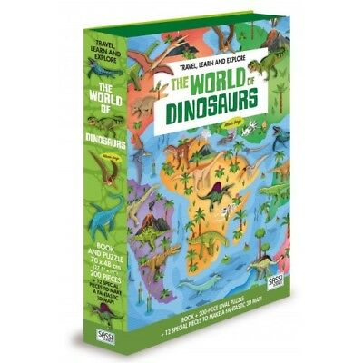 Sassi Travel Learn & Explore - Jigsaw Puzzle - The World Of Dinosaurs - Age 6+
