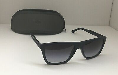 Emporio Armani EA 4001 5065 8G Men Sunglasses Square Rubber Dark Blue Grad  O2  b58c049637