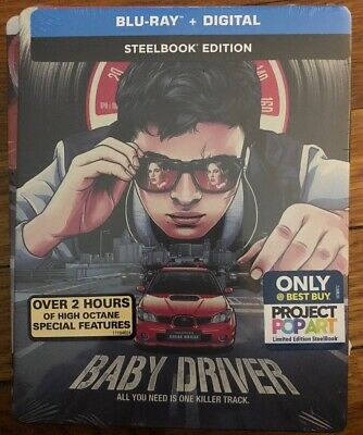 BABY DRIVER (Blu-ray + Digital Exclusive Steelbook Edition)