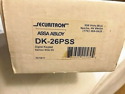 New In Box Securitron Dk-26Pss Assa Abloy 10 Key Digital Keypad Best Price