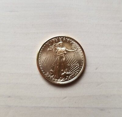 2000 1/10 oz $5 Gold American Eagle Coin Ungraded/Uncertified