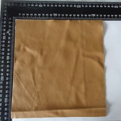 Brand New LATTE BROWN 24x22 cm,1 Piece GENUINE LEATHER-SCRAPS, OFF CUTS, CRAFTS