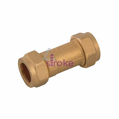 Single Check Valve Brass Stainless Steel And Polymer One Way Valve 15mm