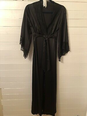 Vintage Black Lingerie Nightgown Robe Set Small cc51a2433