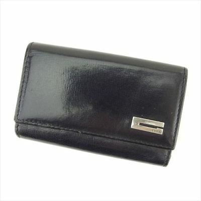 eac589324919 Gucci Key case Key holder Black leather Woman unisex Authentic Used S979