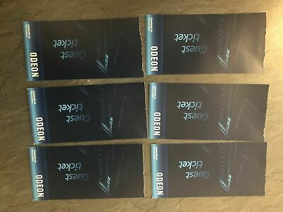 6 X odeon cinema tickets