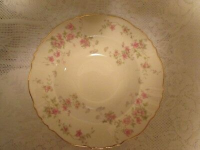 Vintage  Federal Shape Syracuse China Soup  Plates Stansbury Pattern  EUC (4)