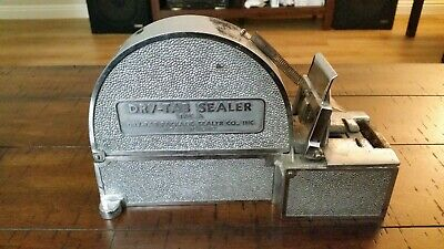 *** CLEARANCE *** Vintage Dry-Tab Sealer Type A Cleveland, Ohio w/ Roll