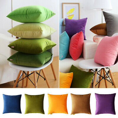 Square Cushion Throw Pillow with Bounce Back Inner Pad Insert 45x45 cm 10 Colour