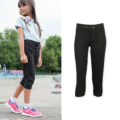 SF Mini Kids 3/4 Workout Pants SM423 - Children Active Sports Gym Bottoms Wear