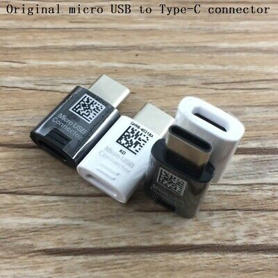 2Pcs For Samsung S9+ S8 S8+ NOTE 8 9 A7 A5 MICRO USB TO TYPE C ADAPTER CONNECTOR