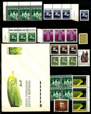 Lithuania Lietuva 1990 1991 MNH and used with a 1991 cover B