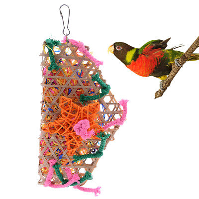 Grass Pet Bird Parrot Swing Cage Toy Foraging Toys Chew Bites for Playing Toy M&