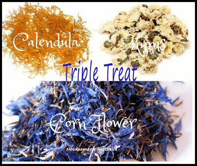Triple Treat Calendula Chrysanthemum Cornflower Petals for Soap & Candles