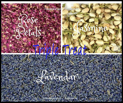 Triple Treat Jasmine Lavendar Rose Petals for Soap Candles & Crafts