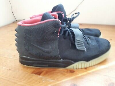 0d6a9b2b8763a NIKE AIR YEEZY 2 NRG Black Solar Red Kanye West Mens Size 12 UK RARE ...