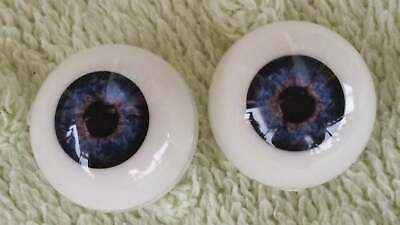 20mm Deep Blue Round Acrylic Eyes Reborn Baby Doll Making Supplies
