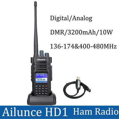 Ailunce HD1 UHF/ VHF Walkie Talkie Radio Dual Band DMR Digital DCDM 3200mAh AU