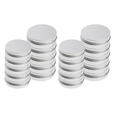 20x 25/150ml Empty Cosmetic Pots Lip Balm Container Jar Silver Aluminum Tins