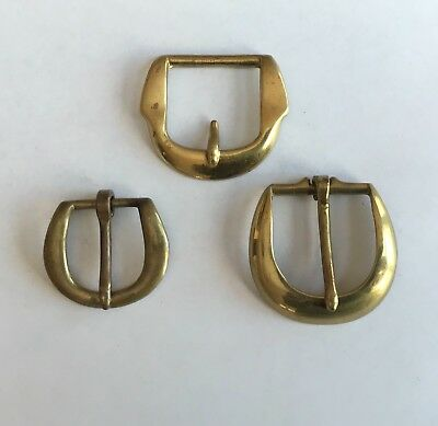 Vintage Brass Belt Buckles Navy Anchors