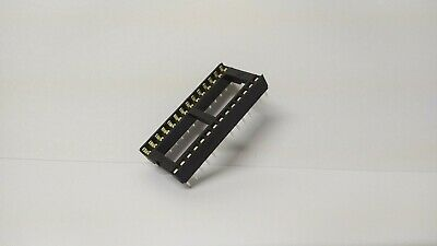 "Low Profile 28 Pin IC Socket DIL 0.6"" Wide Way DIP DCI Chip - UK Seller"