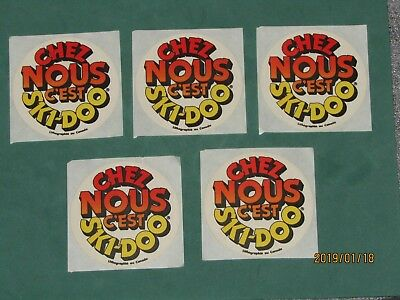 Lot of 5 Vintage SKI DOO  decal , From the 70's logo Skidoo