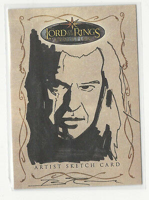 Denethor LOTR Lord of the Rings Evolution Topps Sketch Card by Brian Rood 1/1