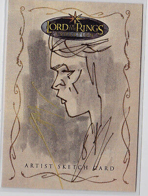 Arwen LOTR Lord of the Rings Evolution Topps Sketch Card by James Hodgkins 1/1