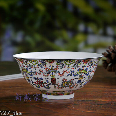 Exquisite Antique Chinese Jingdezhen Bone Colorful Porcelain Flowers Bowl