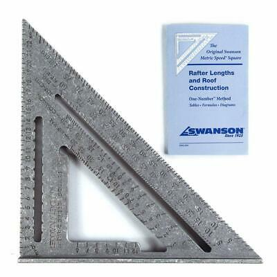 Swanson NA202 Metric Speed Square with Instruction Book