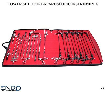 ENDO® NEW Laparoscopy Instruments Set of 28 Pieces Laparoscopic Laparoscopia CE
