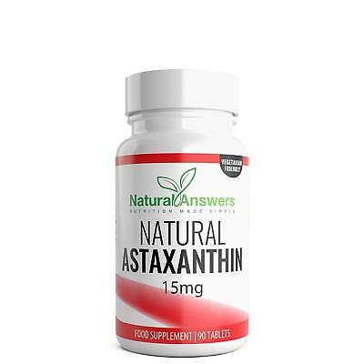 Astaxanthin 15mg - 90 Tablets (3 Month Supply) Astaxanthin by Natural Answers UK