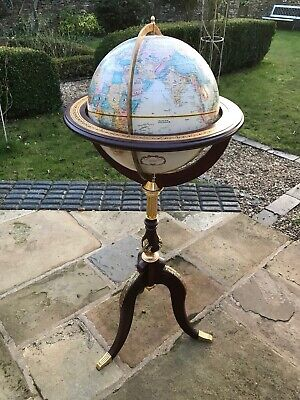 Antique / Vintage Style World Globe With Stand