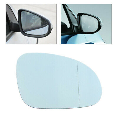 Right Driver side Blue Wing mirror glass for Mini One Cooper 2006-2013 plate