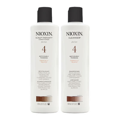 Nioxin System 4 Duo Cleanser + Scalp Therapy, Fine, Chemically Treated Hair