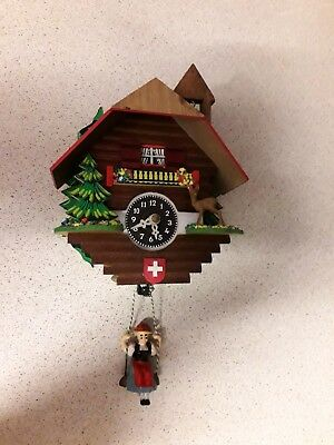 Vintage Small wooden cuckoo? wall clock made in Germany