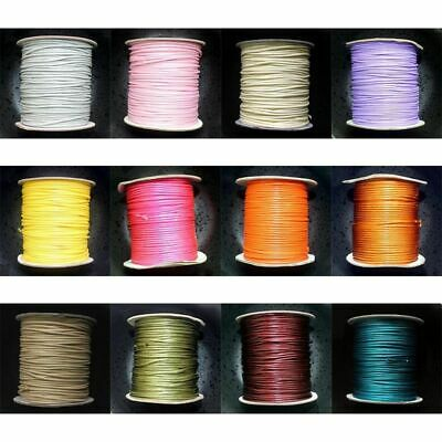 80M/Roll 38 Colors Waxed Cotton Beading Macrame Cord Jewelry Wire String 2mm