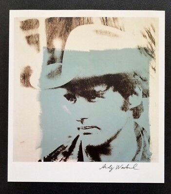 ANDY WARHOL + Dennis Hopper Hand Signed Vintage Print from 1986