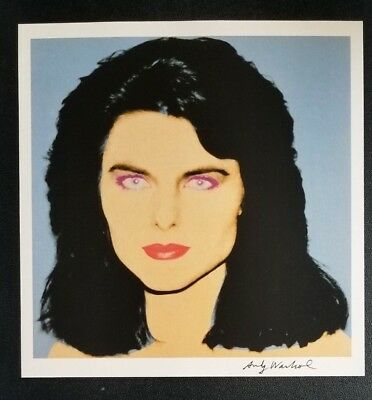 ANDY WARHOL + Maria Shriver  Hand Signed Vintage Print from 1986