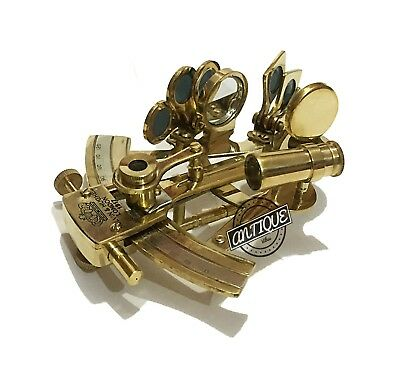 New Year Navigation Brass Telescopic Sextant ~ Shiny brass astrolabe decor n