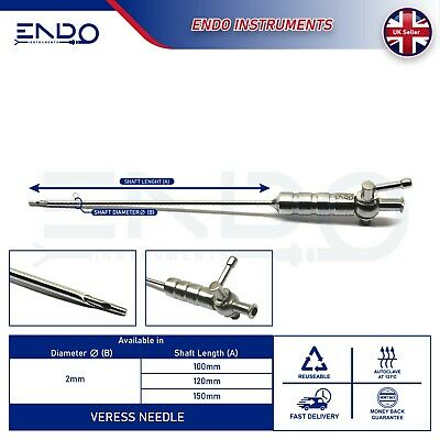 ENDO® Endoscopy Laparoscopy Veress Needle 100mm 120mm 150mm Set of 3 Pieces CE