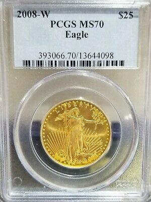 2008-W $25 Burnished American Gold Eagle PCGS MS 70