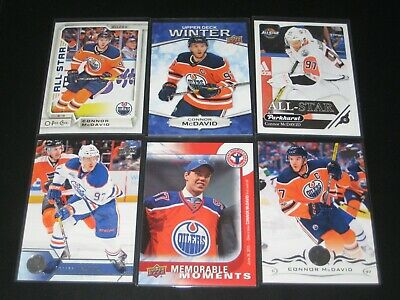 lot of 12 different CONNOR MCDAVID cards EDMONTON OILERS TEAM CANADA
