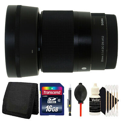 Sigma 30mm f/1.4 DC DN Contemporary Lens for Sony E Mount A6000 A6500 A6300 Kit