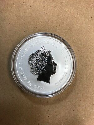 Tuvalu 1 OZ Silver .999 2018 Black Panther Coin,Mint Condition